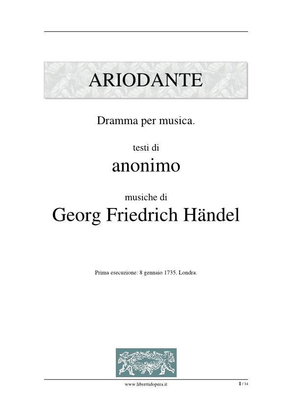 handel ariodante scherza infida pdf download