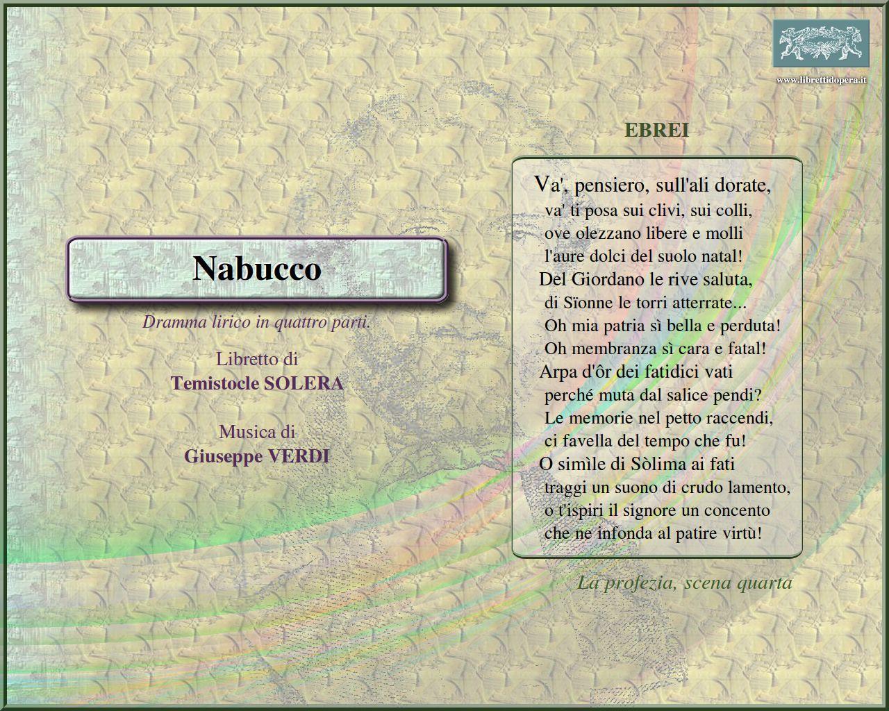 Frasi Sulla Musica Verdi.Citazioni Nabucco Wikiopera