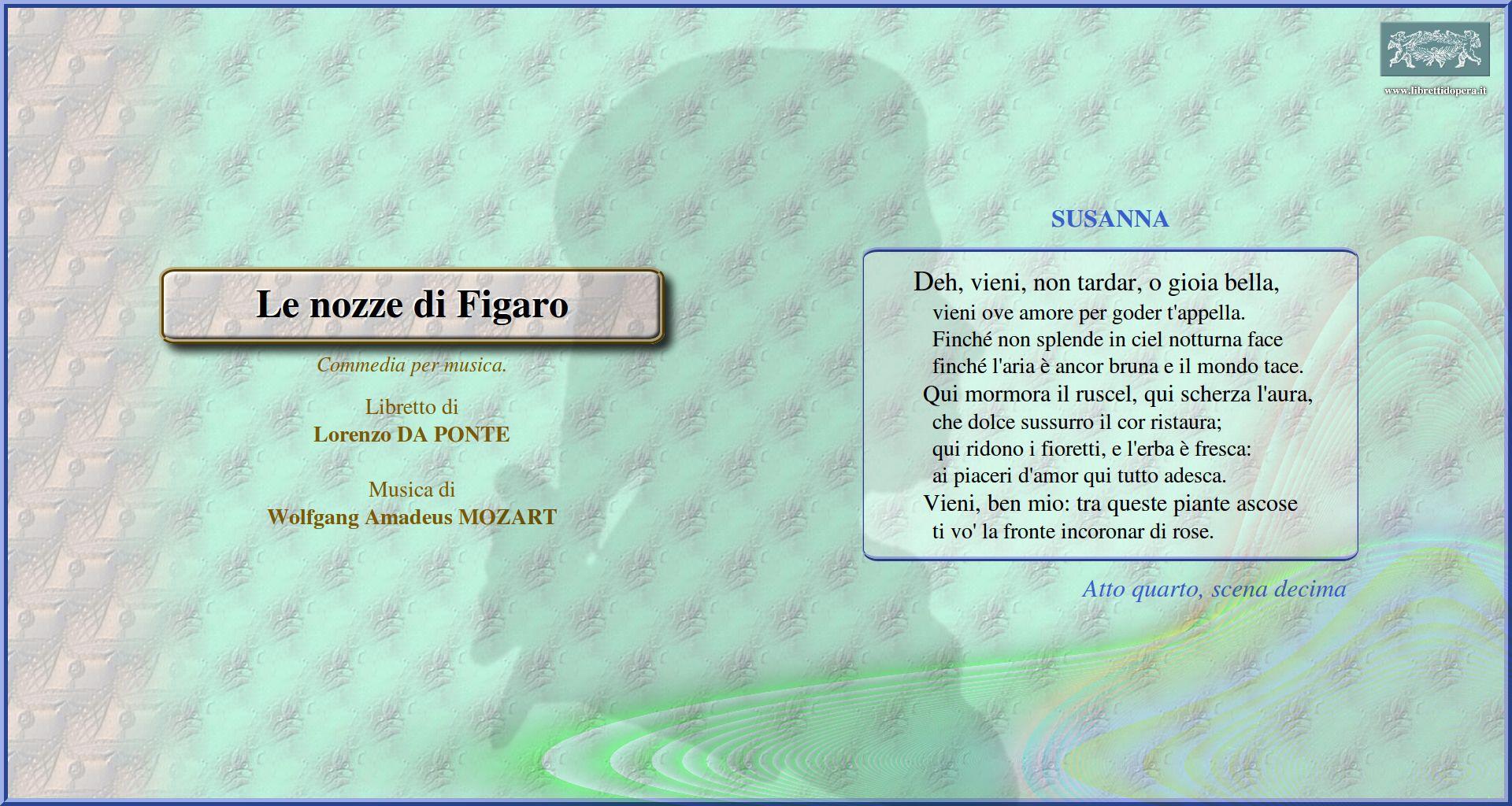 detailed look ee295 ddd33 Le nozze di Figaro (1786) - Immagine sfondo schermo