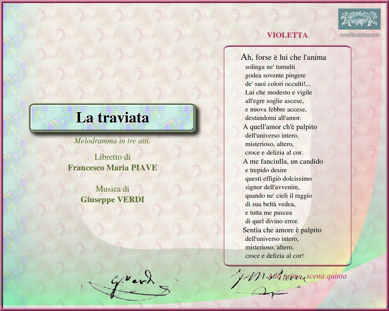 Frasi Sulla Musica Verdi.Citazioni Traviata Wikiopera